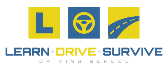 Learn Drive Survive Driving School | Pass your Learners Test | Driver Knowledge Test (DKT) | Learn to drive for your driving test | Safer Drivers Course for Young Learner Drivers Logo