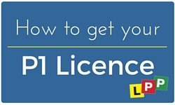 how yo get your P1 licence