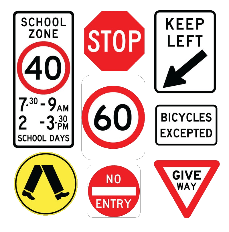 road-signs transparent