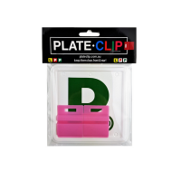 Cheap Pink L & P Plate holders wth Green P Plates
