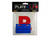 2 x Blue Plate Clips with 2 x Red P Plates