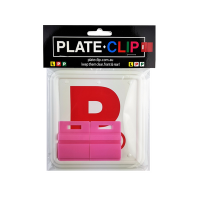 Cheap Pink Plate Clips with 2 x Red P Plates