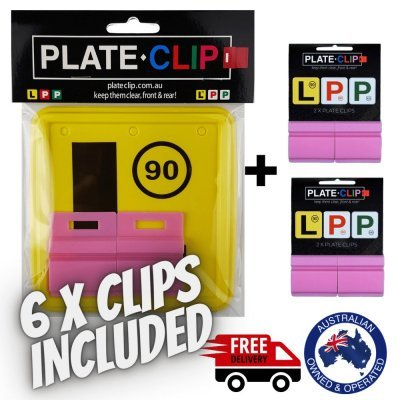 Cheap Pink Plate Clips with L Plates