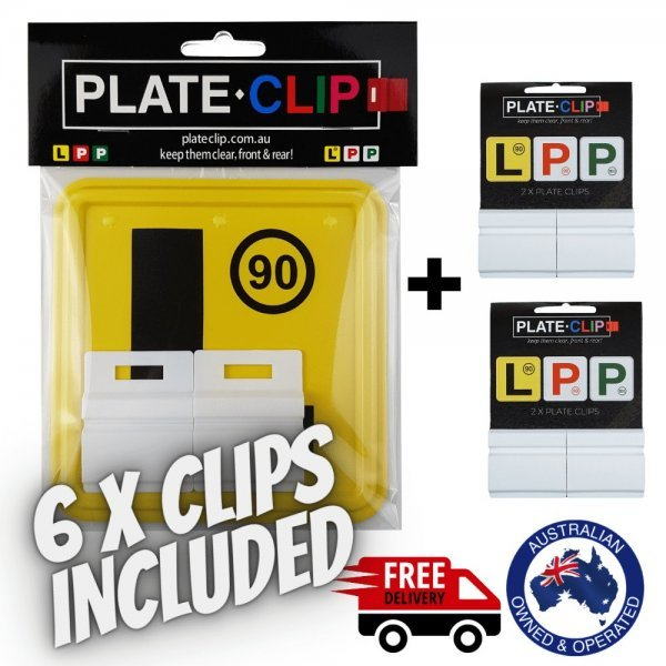 Cheap White Plate Clips with 2 x L Plates