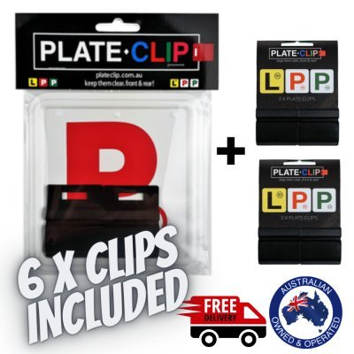 Cheap Black Plate Clips with Red P Plates