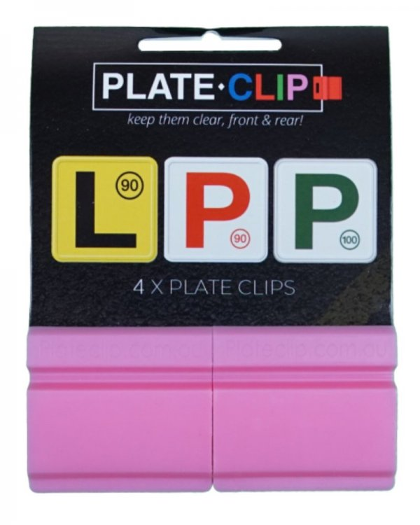 Pink L & P Plate Holders