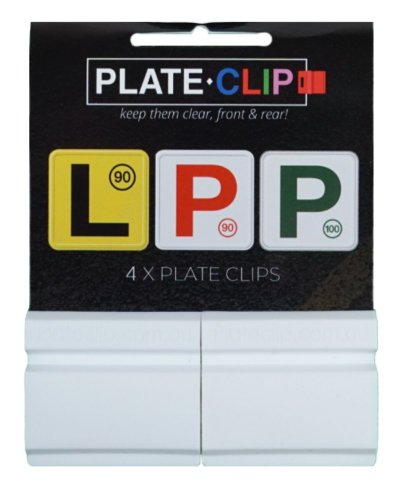 White L & P Plate Holders